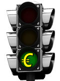 3D Traffic light and dollar sign Royalty Free Stock Images