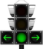 3d Traffic light Royalty Free Stock Photography