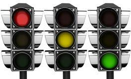 3d Traffic lights Royalty Free Stock Image