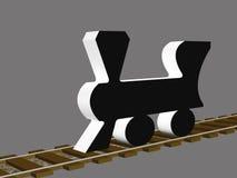 3d Train Locomotive Stock Image