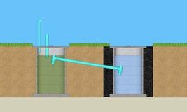 3D traktowania round cementowy system Zdjęcie Stock