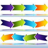 3d Transparent Glass Arrows Stock Image