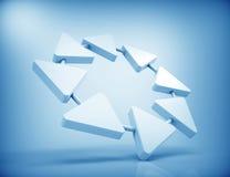 3d trapdiagram Stock Fotografie