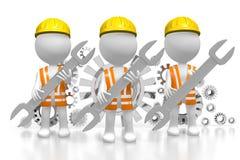 3D travailleurs - concept de vitesses Images stock