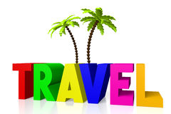 3D travel concept Royalty Free Stock Images
