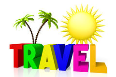 3D travel concept Royalty Free Stock Image