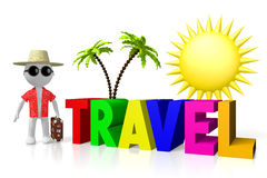 3D travel concept Royalty Free Stock Photography