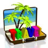 3D travel concept Stock Images