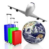 3D travel, holiday concept Royalty Free Stock Images