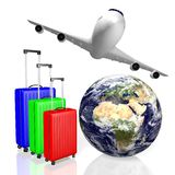 3D travel, holiday concept Stock Photo