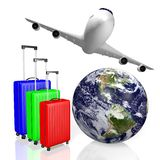 3D travel, holiday concept Royalty Free Stock Photography