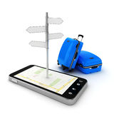 3d travel and navigation planning Stock Photo
