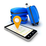 3d travel and navigation planning Stock Images