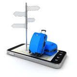 3d travel and navigation planning Stock Photos