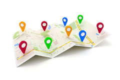 3d travel and navigation planning Royalty Free Stock Photo