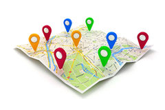 3d travel and navigation planning. Concept Royalty Free Stock Photos