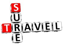 3D Travel Sure Crossword Royalty Free Stock Images
