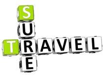 3D Travel Sure Crossword Royalty Free Stock Photo