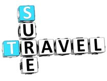 3D Travel Sure Crossword Stock Images