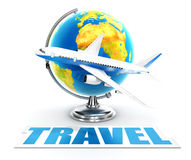 3d travel word concept Royalty Free Stock Photo