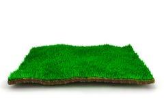 3d trawy gazon ilustracja wektor