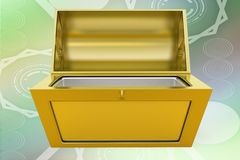 3d treasure box illustration Royalty Free Stock Photography