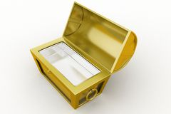 3d treasure box Royalty Free Stock Image
