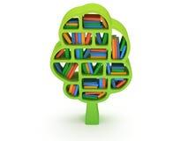3d Tree of knowledge. Bookshelf on white. Tree of knowledge. 3d Bookshelf on white background. Studing illustration Stock Image