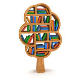 3d Tree of knowledge. Bookshelf on white. Tree of knowledge. 3d Bookshelf on white background. Studing illustration Stock Photography