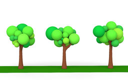 3d trees Stock Images