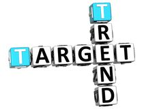 3D Trend Target Crossword cube words Royalty Free Stock Images