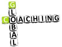3D trenowania Globalny Crossword Zdjęcia Stock
