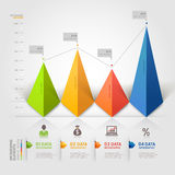 3d triangle infographics business. Vector illustration. can be used for workflow layout, diagram, banner, number options, step up options, web design stock illustration