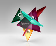 3d triangle modern composition. Vector template background for workflow layout, diagram, number options or web design Royalty Free Stock Photos