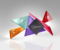 3d triangle modern composition. Vector template background for workflow layout, diagram, number options or web design Royalty Free Stock Images