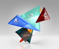 3d triangle modern composition. Vector template background for workflow layout, diagram, number options or web design Stock Photos