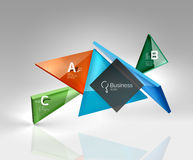 3d triangle modern composition. Vector template background for workflow layout, diagram, number options or web design Royalty Free Stock Image