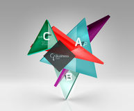 3d triangle modern composition Royalty Free Stock Images