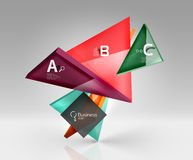 3d triangle modern composition. Vector template background for workflow layout, diagram, number options or web design Stock Photo