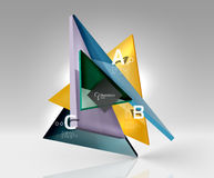 3d triangle modern composition. Vector template background for workflow layout, diagram, number options or web design Royalty Free Stock Photography
