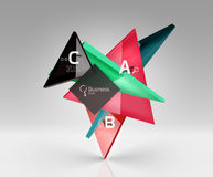 3d triangle modern composition. Vector template background for workflow layout, diagram, number options or web design Royalty Free Stock Photo