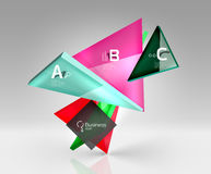 3d triangle modern composition. Vector template background for workflow layout, diagram, number options or web design Stock Photography