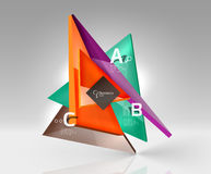 3d triangle modern composition. Vector template background for workflow layout, diagram, number options or web design Stock Images