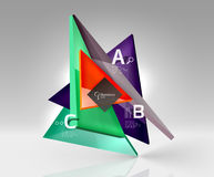 3d triangle modern composition. Vector template background for workflow layout, diagram, number options or web design Stock Image