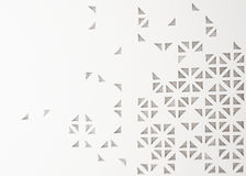 3d triangle perforated abstract background. Creative concept Royalty Free Stock Photos
