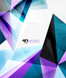 3d triangle polygonal abstract vector Royalty Free Stock Photo