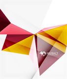 3d triangle polygonal abstract vector. Creative modern abstract background for text, presentation wallpaper Stock Photos