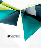 3d triangle polygonal abstract vector. Creative modern abstract background for text, presentation wallpaper Royalty Free Stock Photography