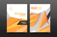 3d triangle shapes. Business annual report cover. A4 size presentation flyer or corporate correspondence report Royalty Free Stock Photography