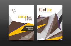 3d triangle shapes. Business annual report cover. A4 size presentation flyer or corporate correspondence report Stock Photography